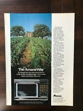 1980 vintage original print ad Amana Touchmatic II Microwave Oven