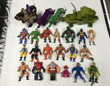 Large MOTU Lot Masters of the Universe He-Man Vintage Figures Vehicles Cats
