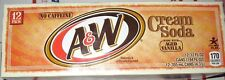 A&W Cream Soda 12 Pack of Cans Caffeine Free Aged Vanilla