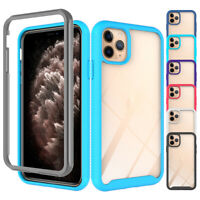 For Apple iPhone 11 Pro Max Hybrid TPU Rugged Shockproof Armor Case Clear Cover