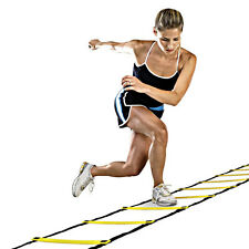 Agility Speed Sport Tranning Ladder 4M - Soccer Fitness Boxing 8 Rungs Bag EW