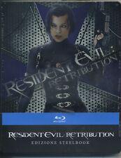 RESIDENT EVIL - RETRIBUTION  LTD STEELBOOK   BLUE-RAY NUOVO