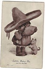 LITTLE PETER PIE and His Dog Fido Child In Sombrero POSTCARD M. T. Sheahan 1908