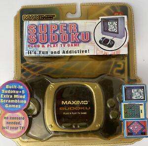 Sudoku Plug N Play Tv Gaming System Game W/ 5 Extra Games Vintage