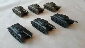 Vintage Ideal Tank Command Game Set Of Tanks Spares 1975