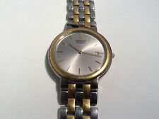 Seiko Quartz 7N29-7A09 Unisex Watch Silver Tone Analog Dial Date Water Resistant
