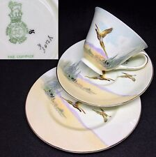 Royal Doulton 1939 The Coppice V2105 Gold English Vintage Bone China Trio Set