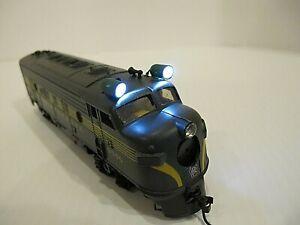 HO Scale Athearn Pennsylvania RR Green Dummy Locomotive, #9506 with custom LEDs