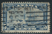 Canada #204(5) 1933 5 cent dk blue ROYAL WILLIAM 100th ANNIVERSARY Used CV$4.50