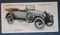 HUDSON SUPER SIX    Car  Original 1923 Vintage Colour Card