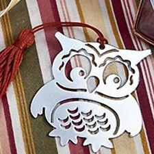 Delicate Hollow Owl Alloy Bookmarks With Ribbon Box Book Marks School Supplies