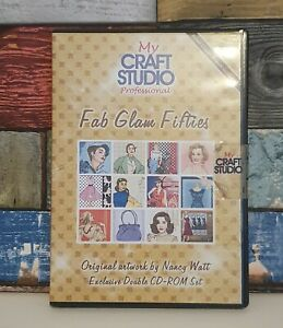 My Craft Studio - Fab Glam Fifties - Double Papercrafting CD Rom set