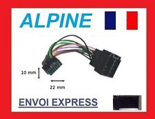 Cable adaptateur ISO autoradio ALPINE CDA-9853R ; CDA-9854R ; CDA-9855R