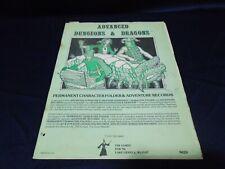 D&D Permanent Character Folder & Adventure Records TSR 1979