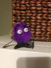 Vintage BB Hong Kong Plastic Fuzzy Monster car mirror Hanging Bouncer? Retro toy