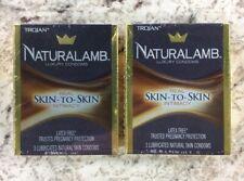2 Pack - Trojan™ Naturalamb™ Natural Skin Lubricated Condoms 3 Each - Exp 08/24