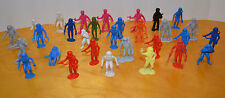 VINTAGE PLASTIC ASTRONAUT SPACE PLASTIC TOY FIGURE LOT GALAXY LASER TEAM MARX