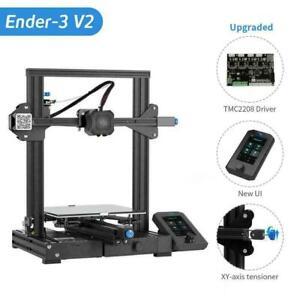 Used Refurbished Creality Ender-3 V2 3D Printer / 4 Rolls 1.75m PLA Filament US