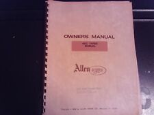 Allen ADC Three Manual Owner's Manual (Allen Organ Co.)