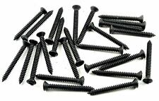 "Chrysler Black Trim Screws- #8 x 1-1/2"" Phillips Oval Head- 25 screws- #288"