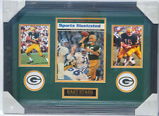 PSA/DNA GB Packers #15 BART STARR Autographed FRAMED Sports Illustrated Magazine