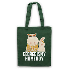 RAINBOW UNOFFICIAL GEORGE IS MY HOMEBOY PARODY TV SHOW TOTE BAG LIFE SHOPPER