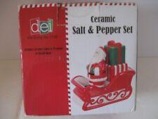 Salt and Pepper Set Santa with Sleigh Salt and Pepper 3 Piece Set (81636)