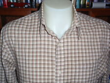 MICHAEL KORS 100% Cotton Men's Shirt Size L Long Sleeve Spread Collar NWOT