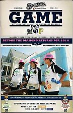 HABITAT FOR HUMANITY ON MILWAUKEE BREWERS 2014 OFFICIAL GAMEDAY PROGRAM ISSUE #8