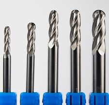 """1"""" Solid Carbide End Mill. 4F, BALL-end, Regular-length 1.1/2 LOC x 4"""" OAL."""