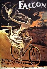 Deco Poste Falcon French American Bicycle Bike Print