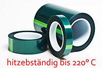 hitzebeständiges Klebeband, Pulverlack Abdeckband bis +220°C, 12 mm/ 66 Meter