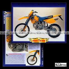 #060.09 Fiche Moto HUSABERG FE 400 ENDURO 1999 Trail Bike Motorcycle Card