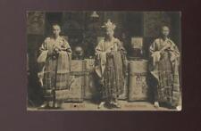 HONG KONG 1911 PPC BUDDHIST PRIESTS...Br PO SHANGHAI