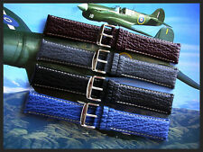 24mm Brown Sharkskin Calf XL Quick-Release watchband strap IW SUISSE 22 USA ship