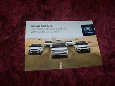 Catalogue / Brochure LAND ROVER Lounge Editions / Full line 2014 //