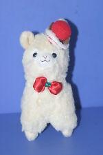 "Arpakasso Alpacasso Alpaca X'mas Hat & Bow tie Plush Doll JAPAN 5.6"""
