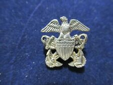 Rare Antique Sterling Silver Pin Medal, US Stars and Eagle
