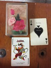 Single Deck Playing Cards Roses W.P Co. WhitmanS