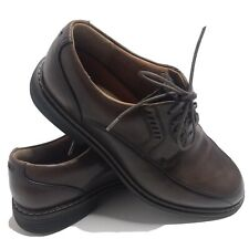Clarks Unstructured Casual Oxford Shoes Men's Size 9M Brown Leather Upper.