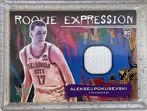 "2021 Court Kings Aleksej Pokusevski RC Rookie Expression Jersey Patch ""Mint"" 🏀"