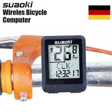 Bicycle Fahrradcomputer Funk Fahrradtacho Tachometer Kilometerzähler Temperatur