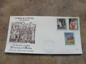 1982 First Day Cover / FDC- Turks & Caicos - Princess of Wales 21st Birthday -V1