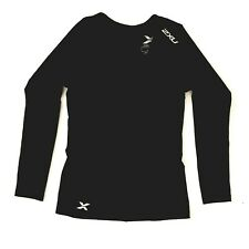 2XU Ladies L Longs Sleeve Compression Top Black EUC Rarely Worn RRP $120