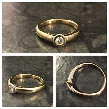 Echtschmuck-Ringe im Solitär mit Brilliantschliff für Damen