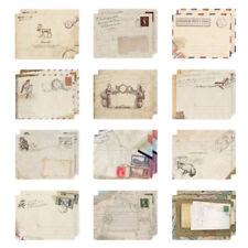 12 X Small Ancien Envelopes Vintage Retro Style Western Envelope Pop CA
