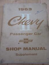 1963 CHEVY II PASSENGER CAR CHEVROLET SHOP MANUAL SUPPLEMENT