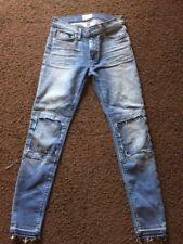 Vintage Hudson Womens/Girls Suzzi Distressed Jeans - XS - size 24--Free shipping