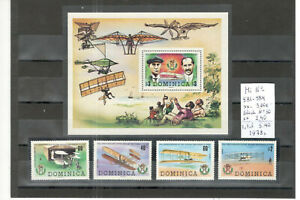 Dominica aviation stamps