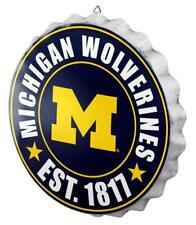 "Michigan Wolverines Bottle Cap Sign - Est 1817 - Room Bar Decor NEW 13.5"""